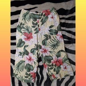 Floral Spring Dress Capris